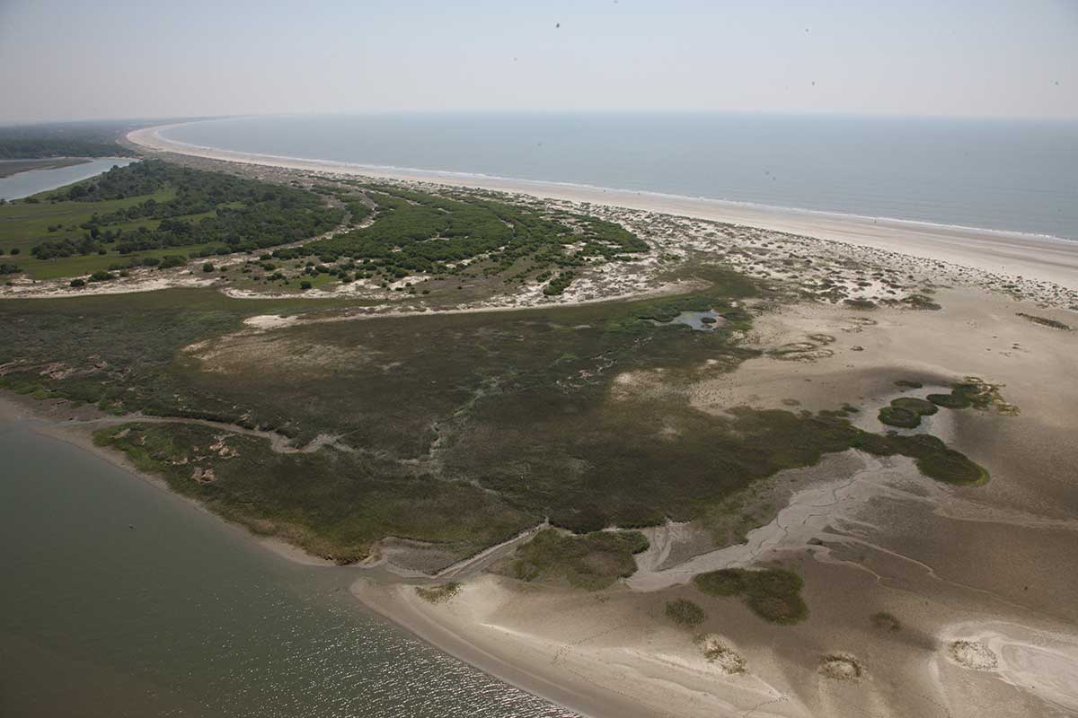 Aerial view of Kiawah Island, South Carolina